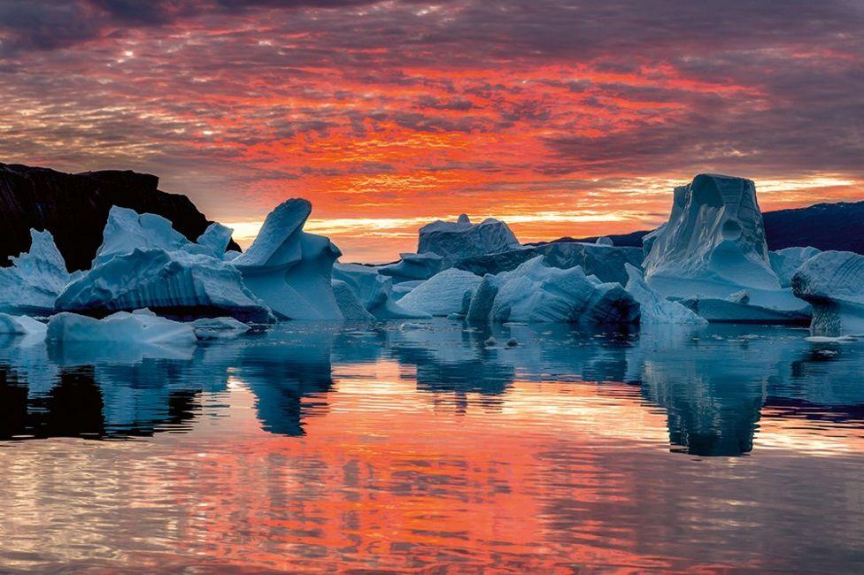 Схід сонця у Гренландії