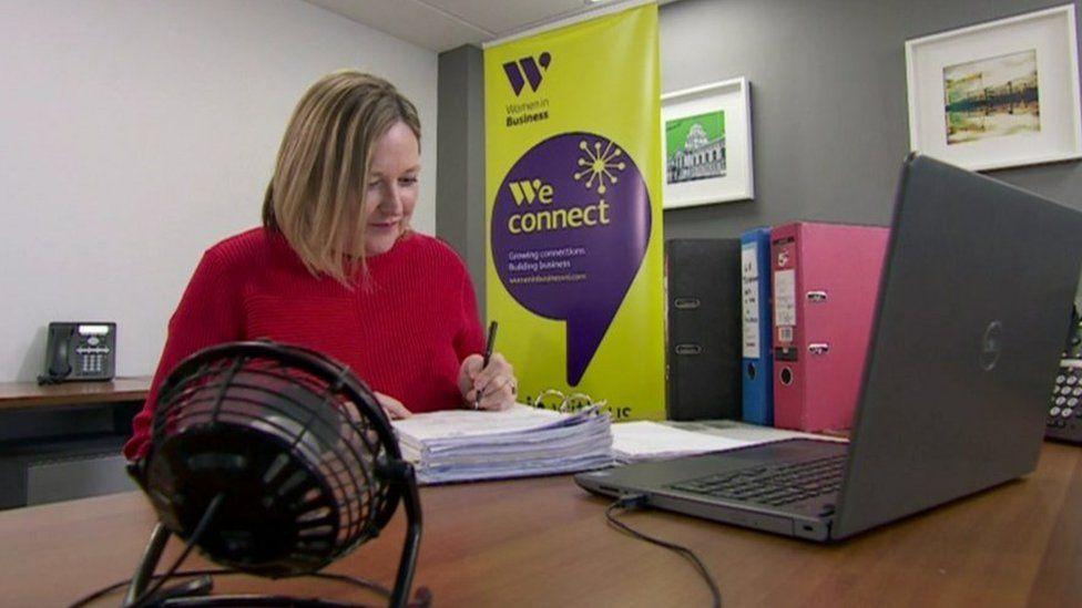 Roseann Kelly at work