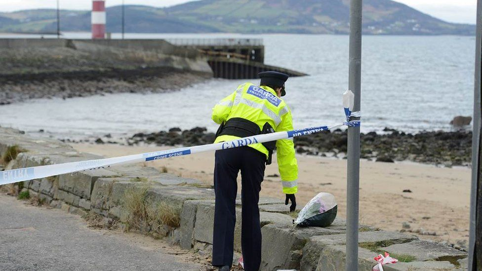 Flowers are being left at the scene of the Buncrana tragedy