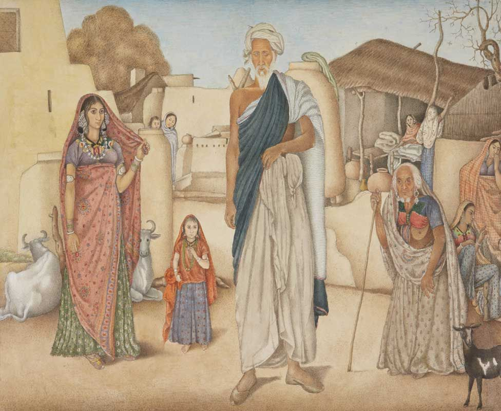 Indian villagers by Ghulam Ali Khan, 1815-16