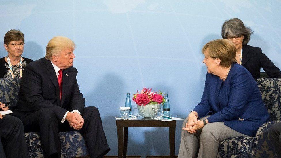 Merkel meets Trump