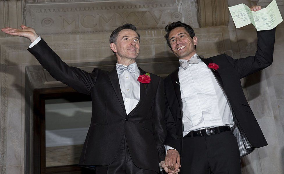 Peter McGraith and David Cabreza married in London moments after the law changed on 29 March 2014