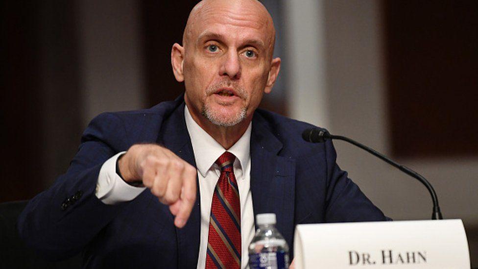 The head of the FDA, Dr Stephen Hahn