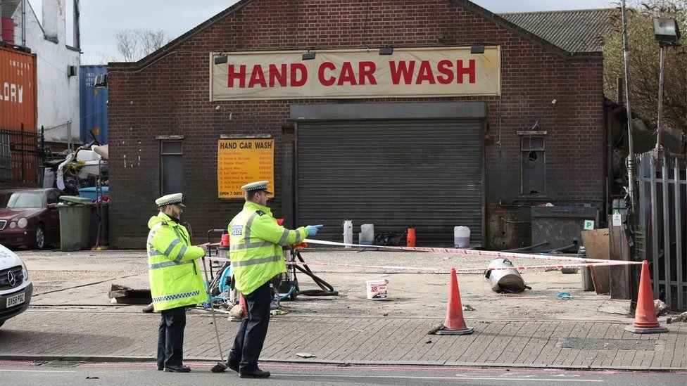 Hand car wash building