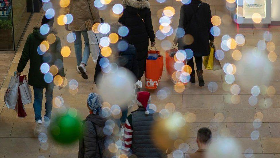 Christmas shoppers in Birmingham
