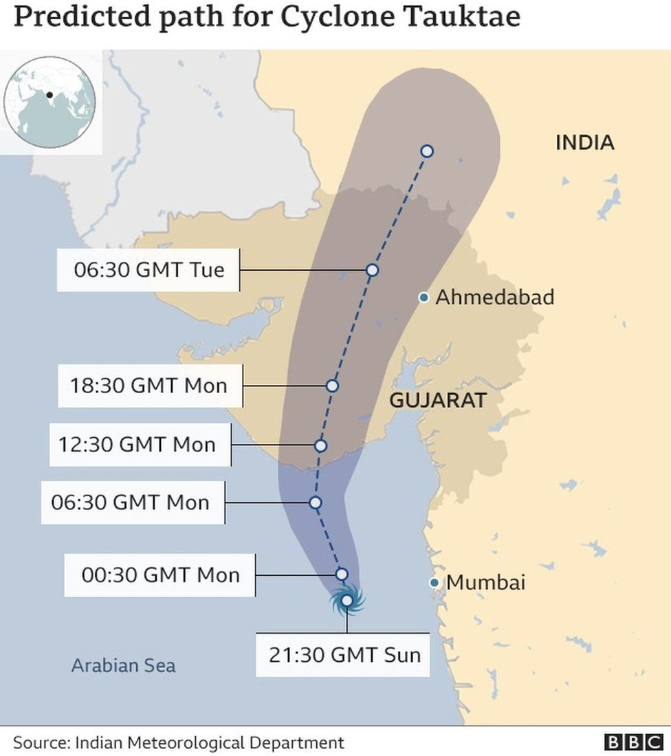 Cyclone Tauktae makes landfall in Covid-battered India thumbnail