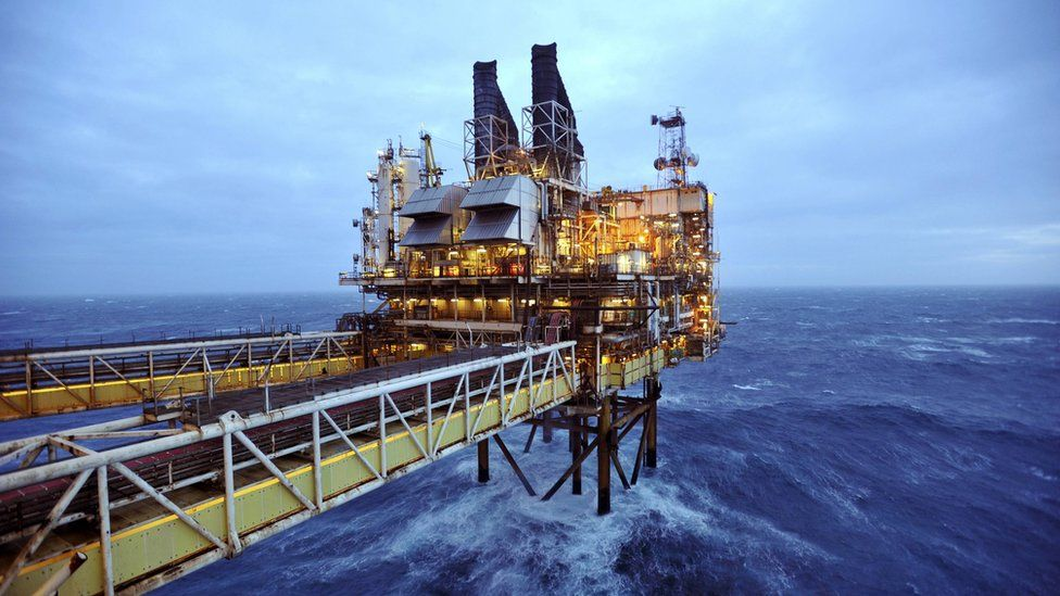 A section of the BP Eastern Trough Area Project (ETAP) oil platform