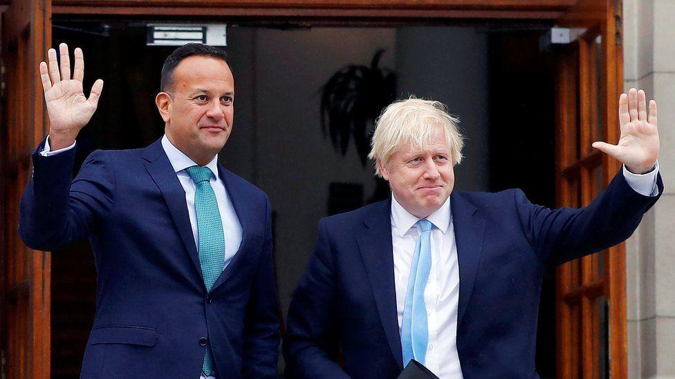 Leo Varadkar with Boris Johnson