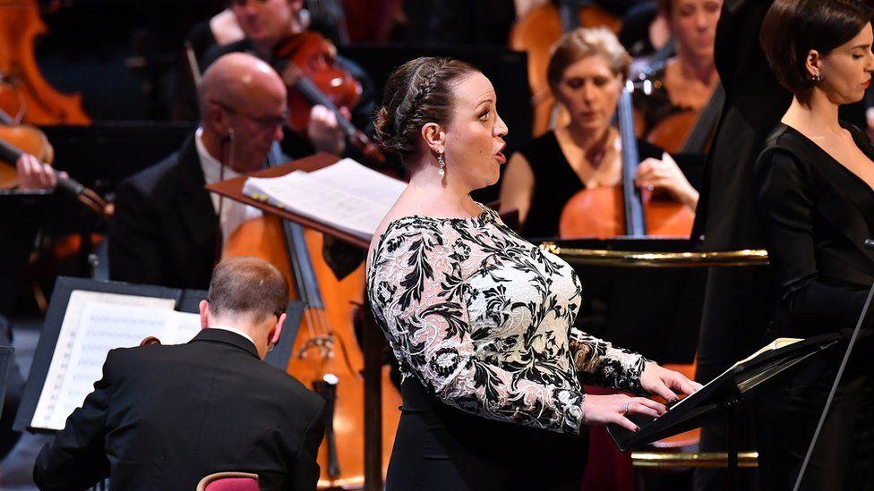 Jennifer Johnston sings at the Proms