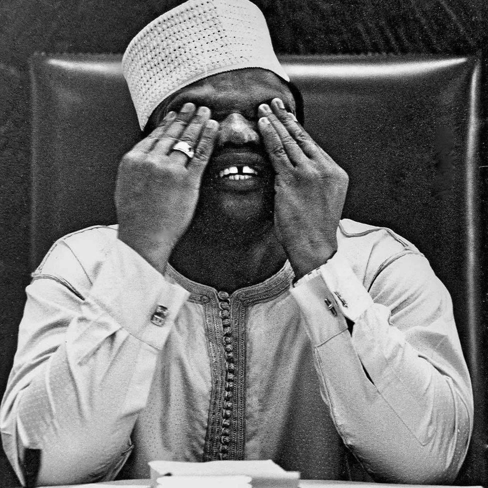 "A photo by Sunmi Smart-Cole entitled: ""President Ibrahim Babangida"" - 1985, showing the man who took over in Nigeria's 1985 military coup"