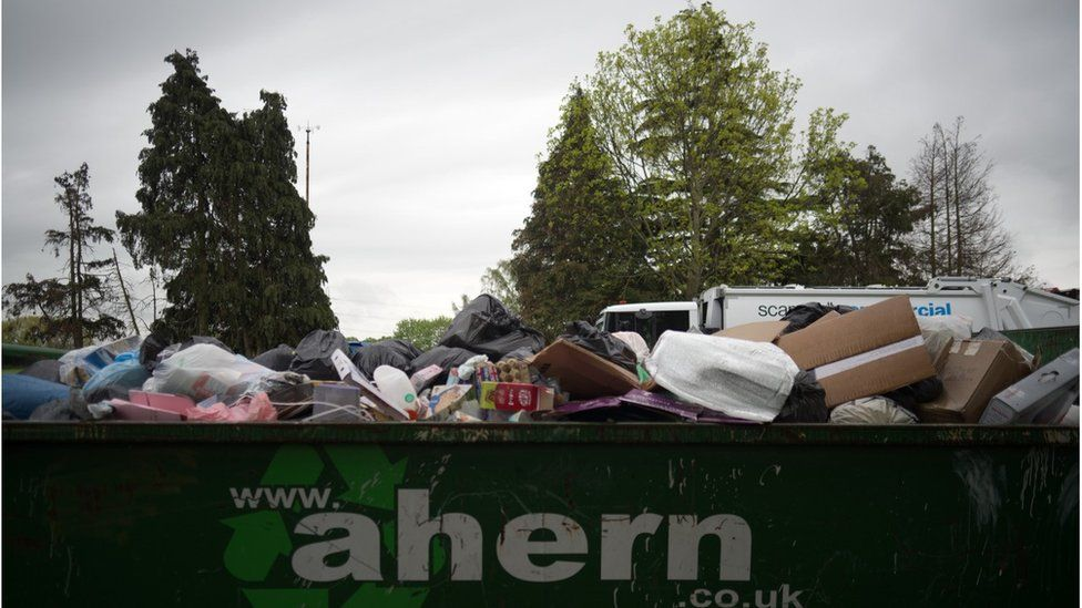 waste piling up