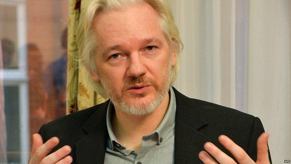 Wikileaks founder Julian Assange, 15 June 2015