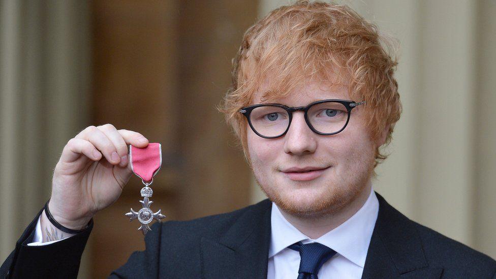 Ed Sheeran MBE