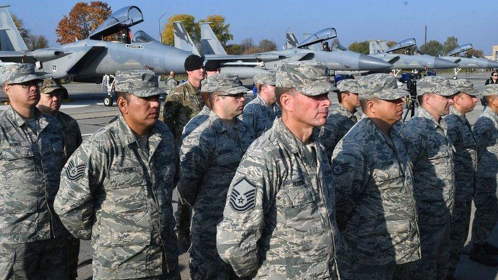 USAF servicemen at air base