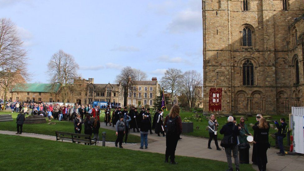 St Cuthbert's Festival procession