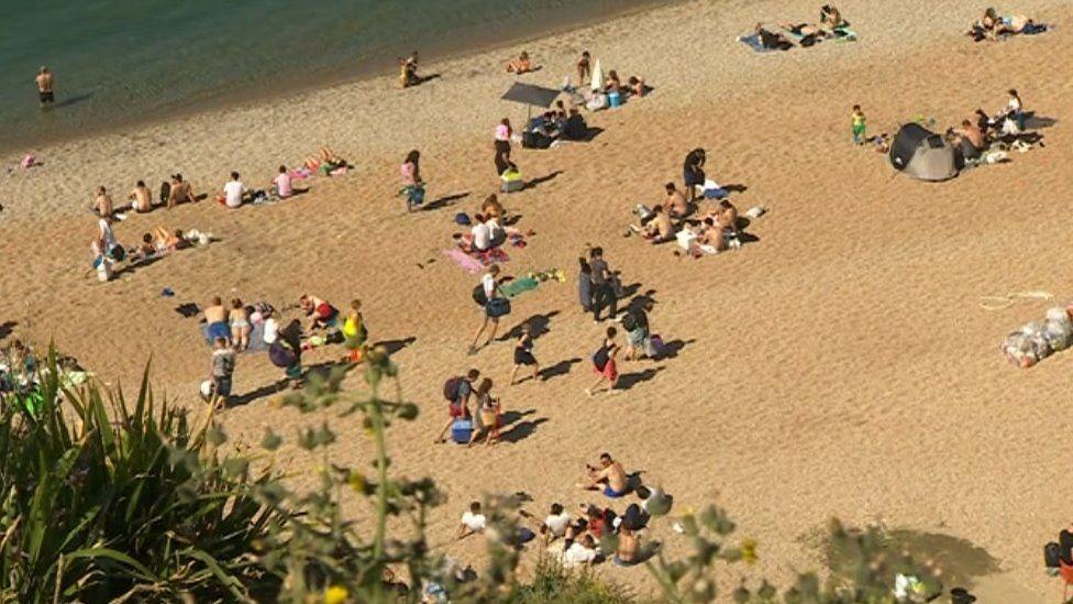 Beach on Sunday