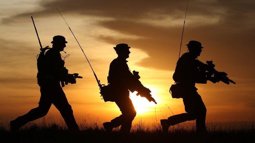 British soldiers on patrol in 2015