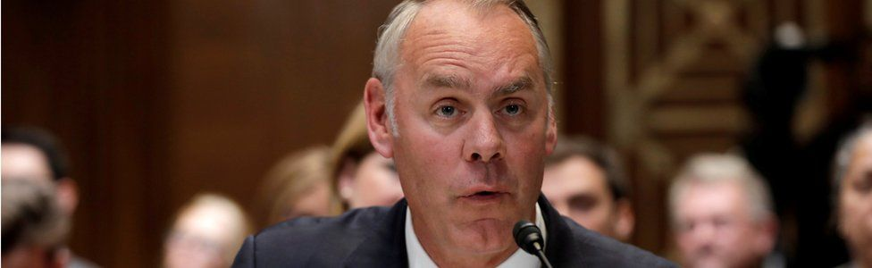 Ryan Zinke testifies before a Senate Appropriations Interior, Environment and Related Agencies Subcommittee hearing