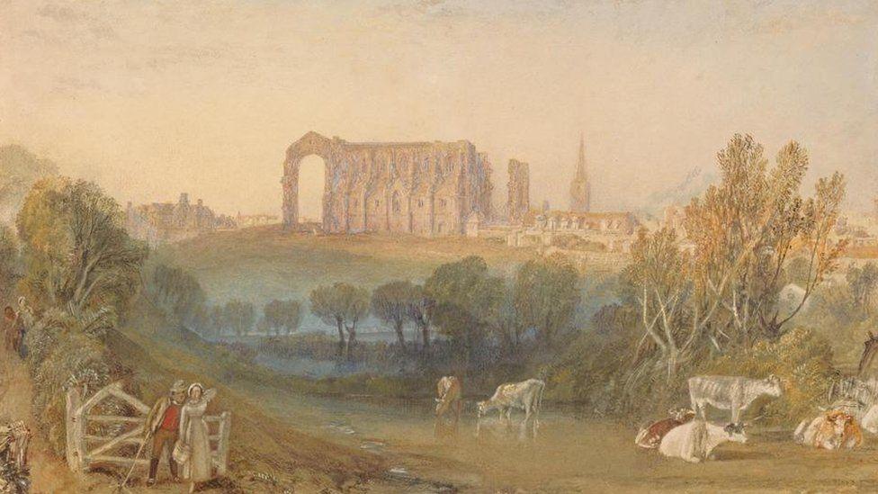 JMW Turner, Malmesbury Abbey, Wiltshire, 1827