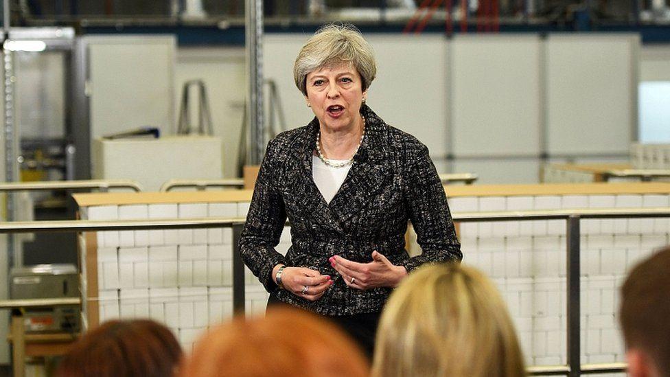 Theresa May speaking in Berkshire