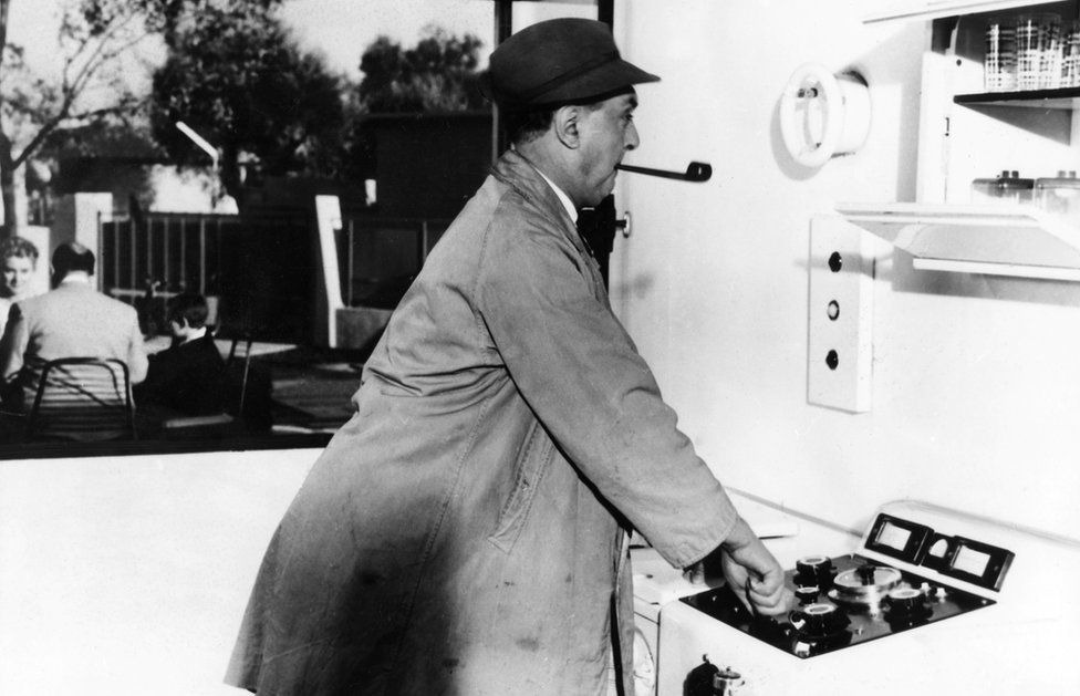 Jacques Tati's humour (seen here working on his acclaimed film, Mon Oncle) can be found in Hector's House