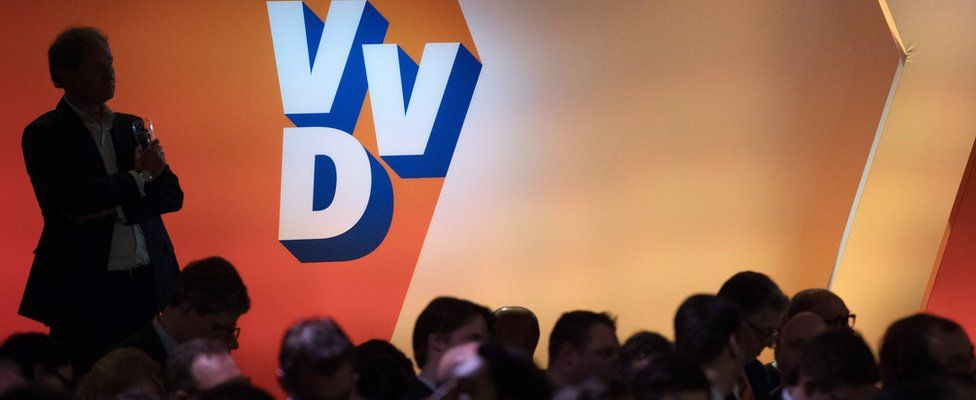Members of the VVD party wait to hear results of the general election, 15 March 2017