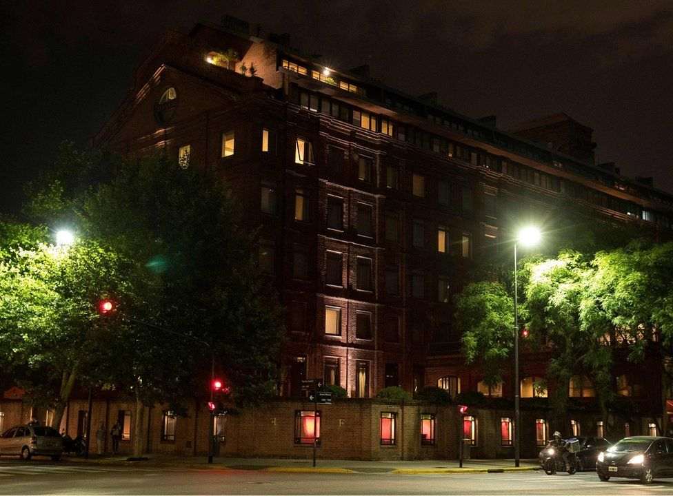 View of the Faena Hotel, in Puerto Madero neighbourhood, Buenos Aires