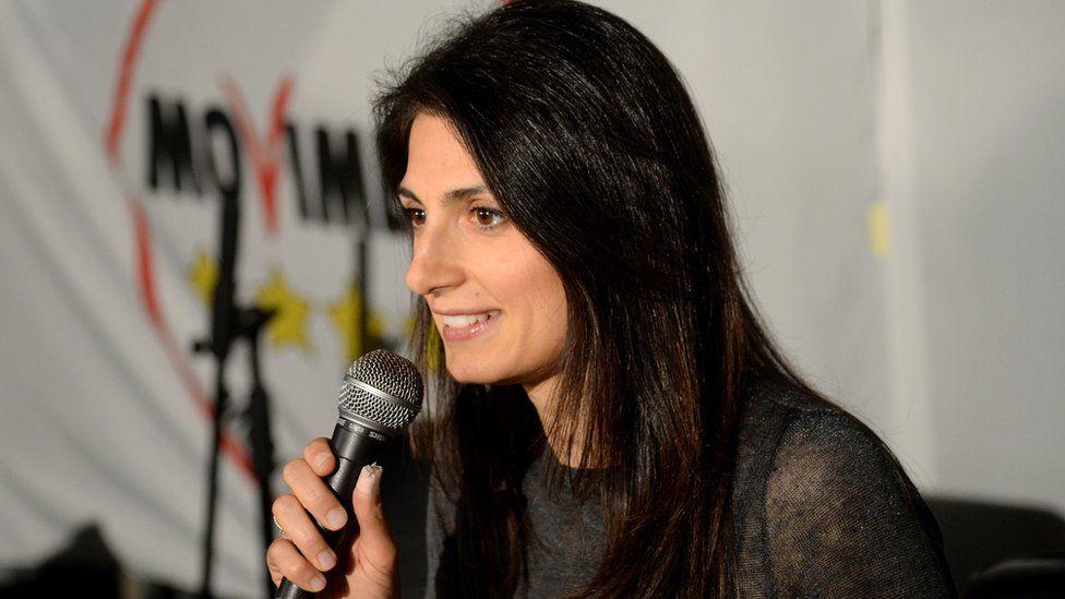 Virginia Raggi, the anti-establishment Five Star Movement's candidate for Rome mayor, 6 Jun 16