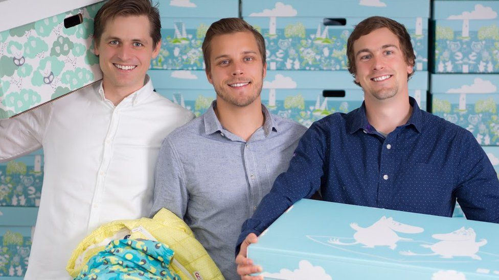 Three fathers in Finland set up the Finnish Baby Box Company in 2014