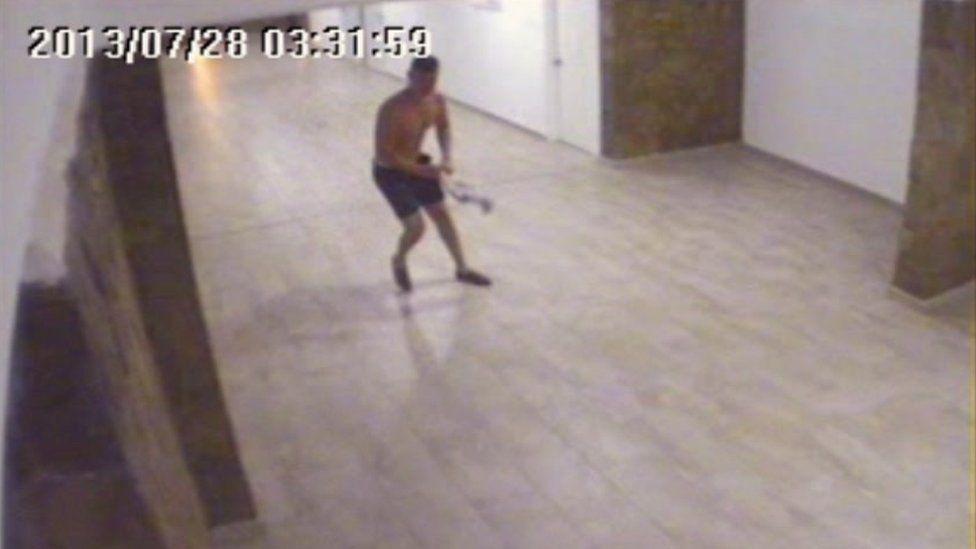 Kona Gamble on CCTV