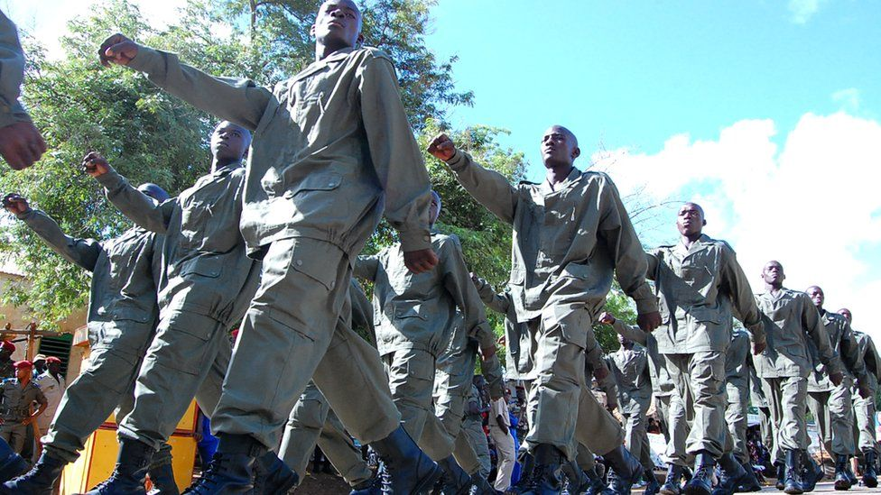 Graduates of the former Presidential regiment corps