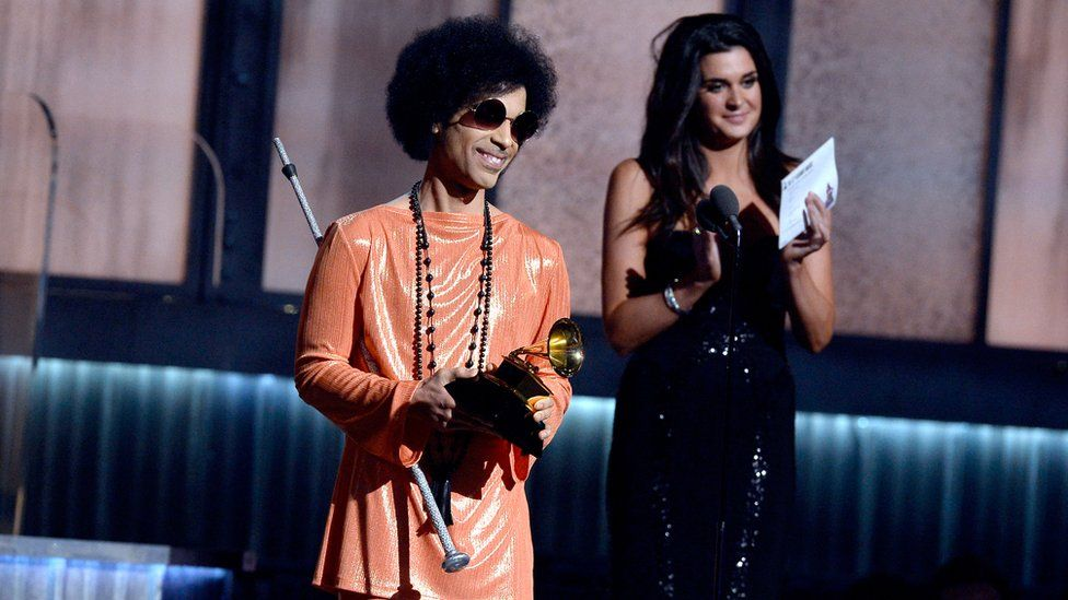 Prince speaks onstage during The 57th Annual Grammy Awards in 2015 in Los Angeles, California