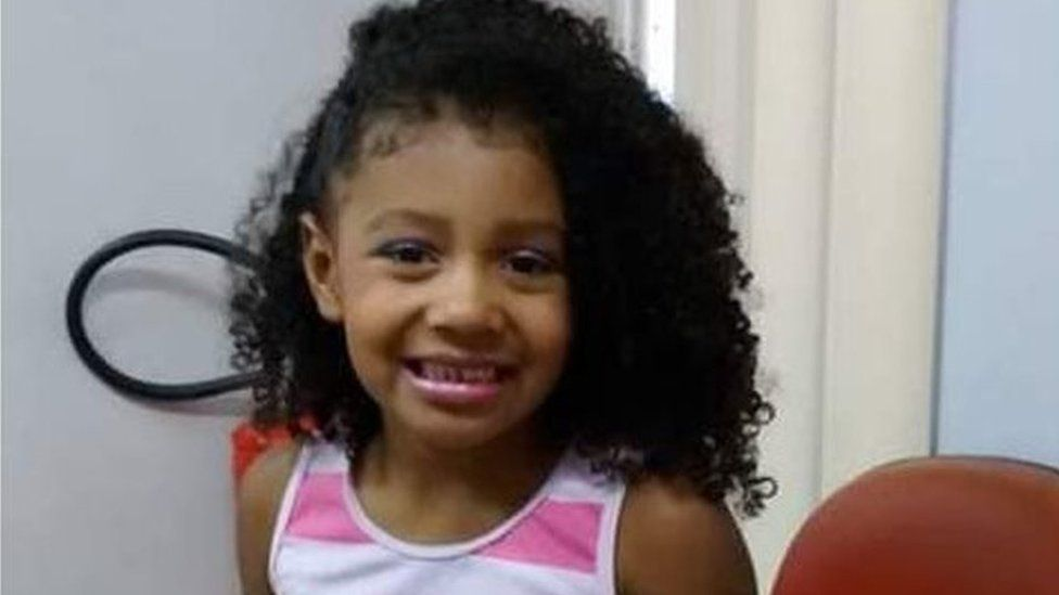 Rio violence: Protests as girl, eight, 'killed by police'
