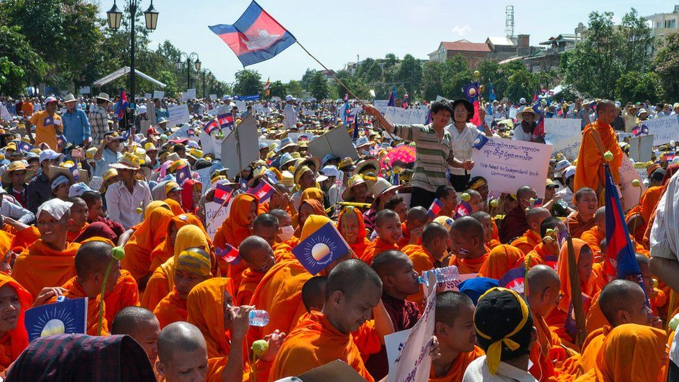 Phnom Penh 2013 protest