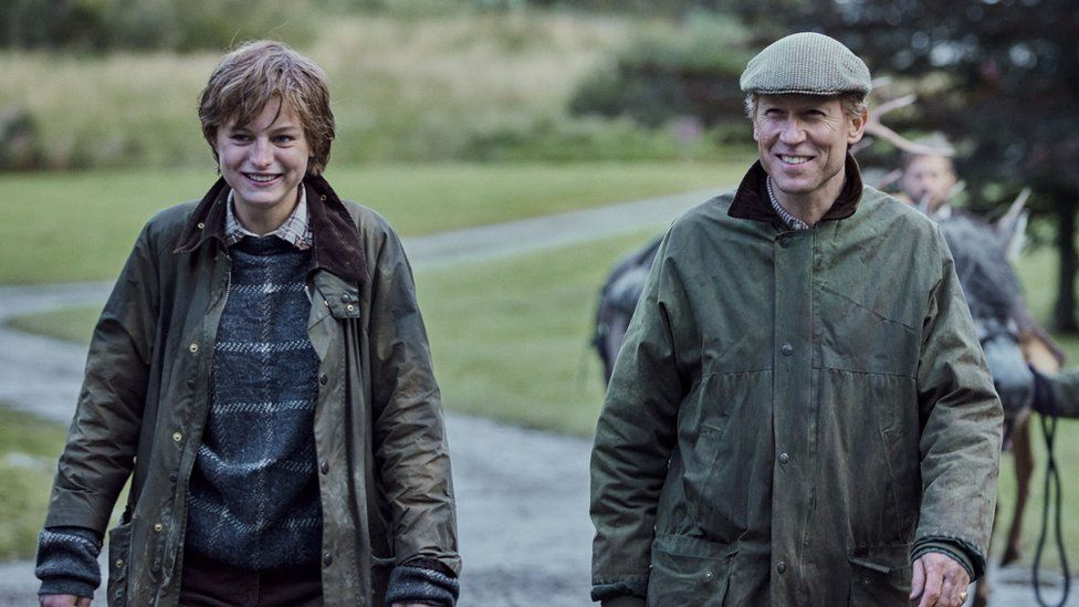 Emma Corrin and Tobias Menzies