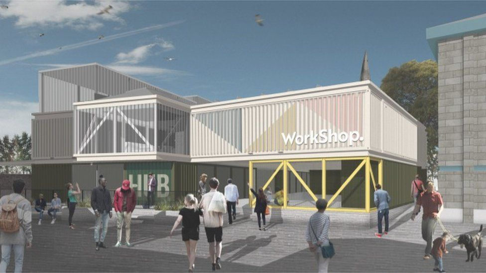 Shipping containers 'innovation hub' in Cheltenham