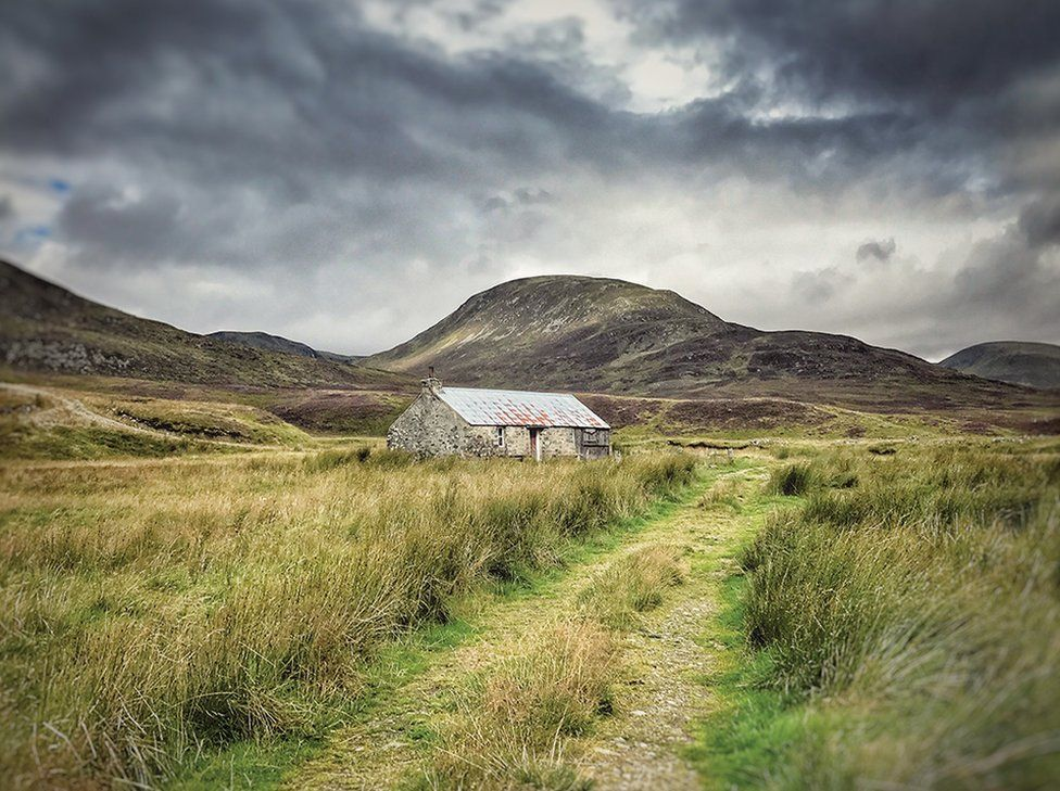 A hut in the Scottish highlands