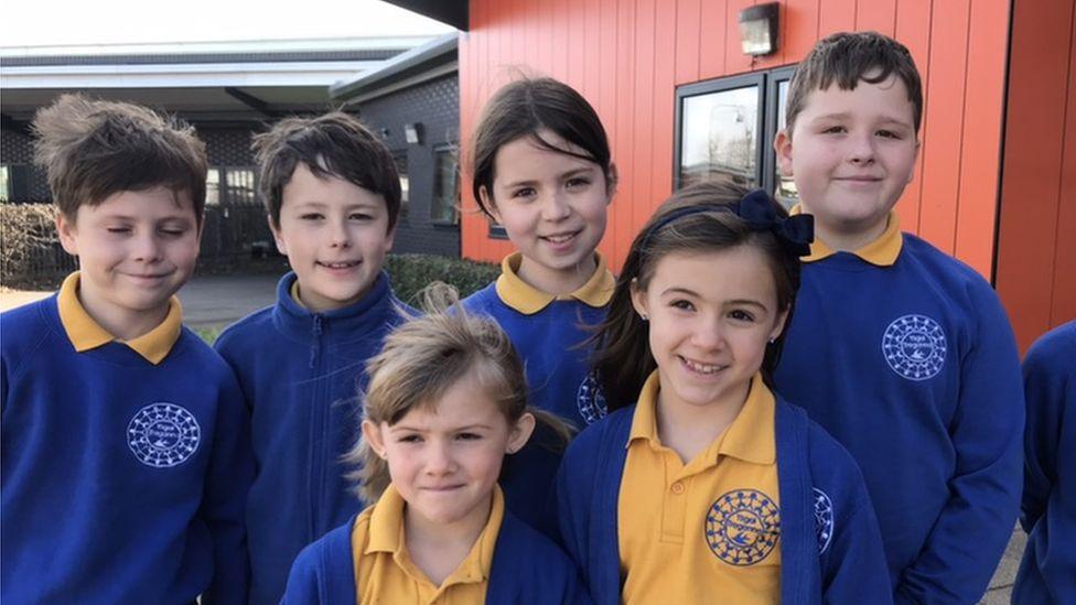 Seven pupils from Treganna school