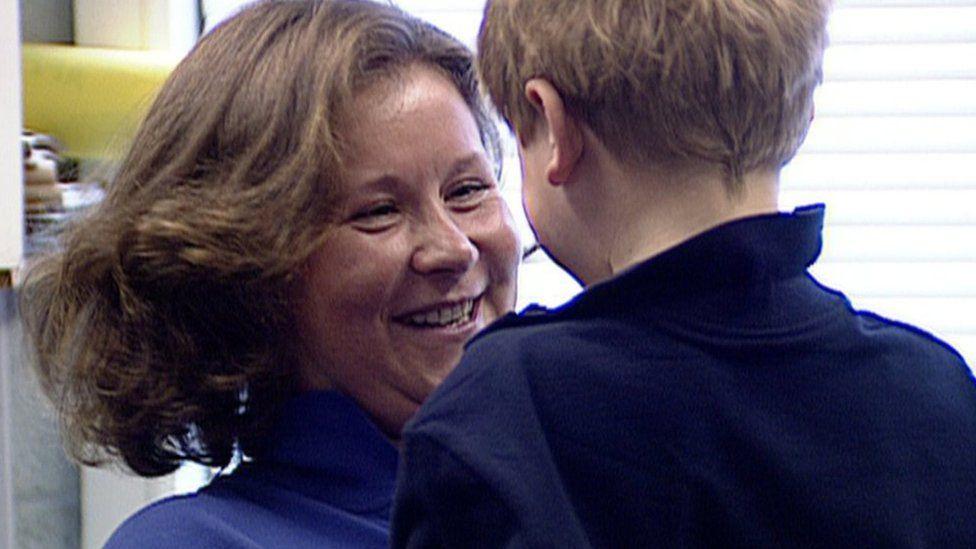 Alison Hargreaves and son Tom Ballard