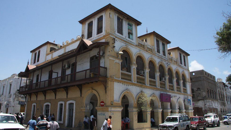 One of Djibouti city's French colonial-era buildings