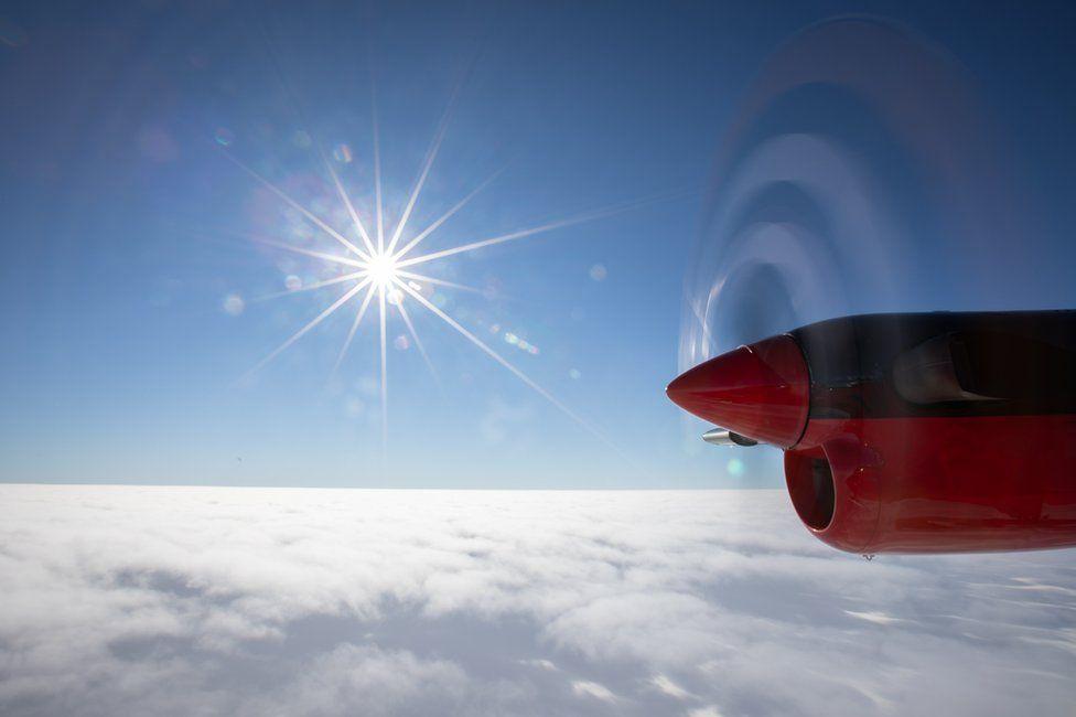 Flying across Antarctica