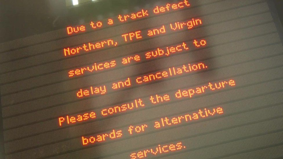 Sign about delays and cancellations