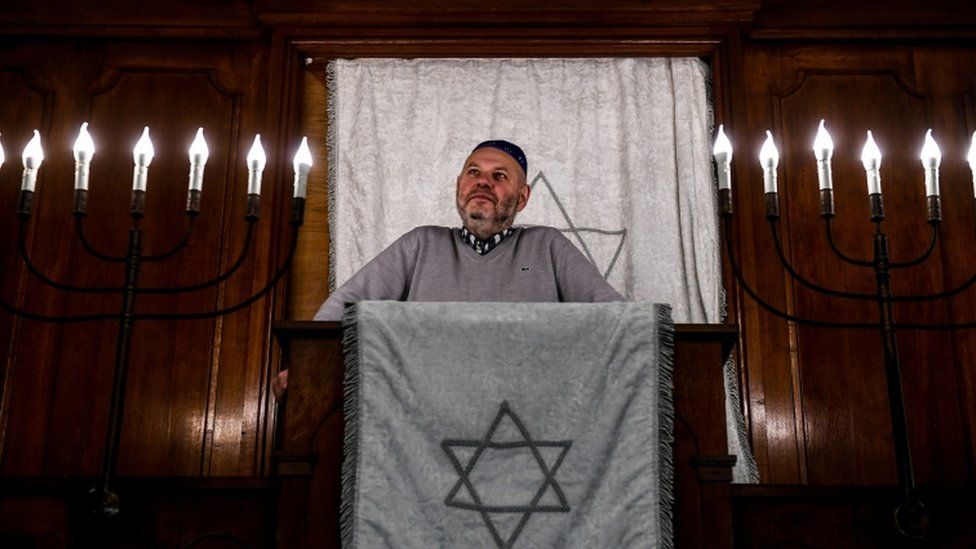 Max Privorozki, the head of the Halle Jewish community, was among the survivors of last year's attack