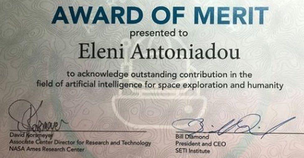 Award of merit posted by Eleni Antoniadou