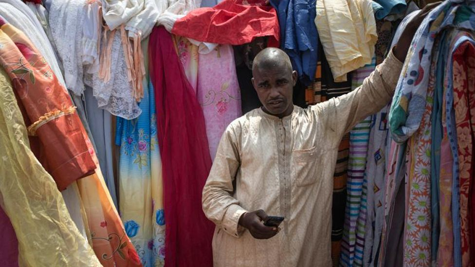 A Muslim trader in Bangui, the Central African Republic - archive shot