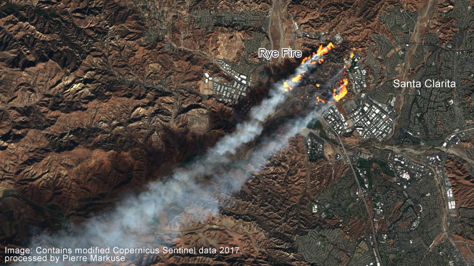 Rye fire, California