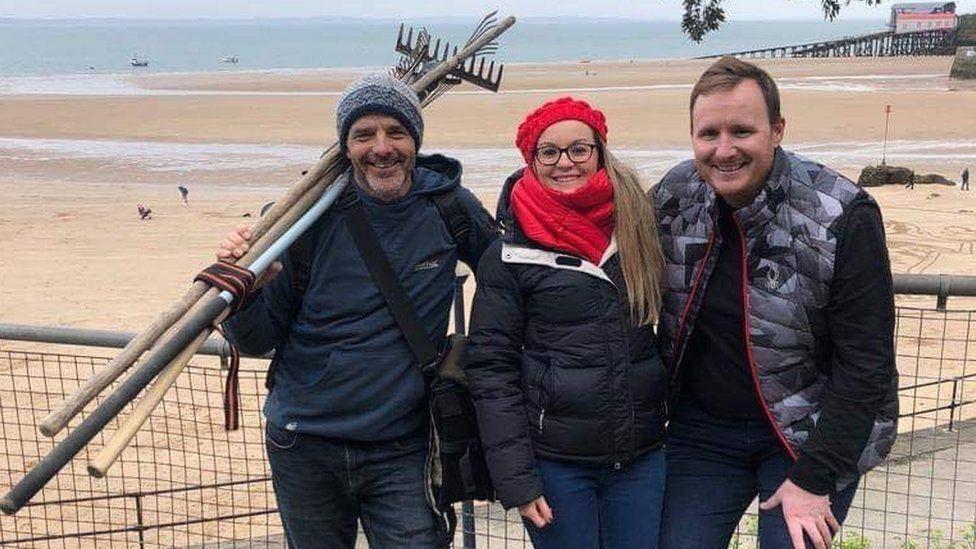 Mark Traenor, artist, with the couple