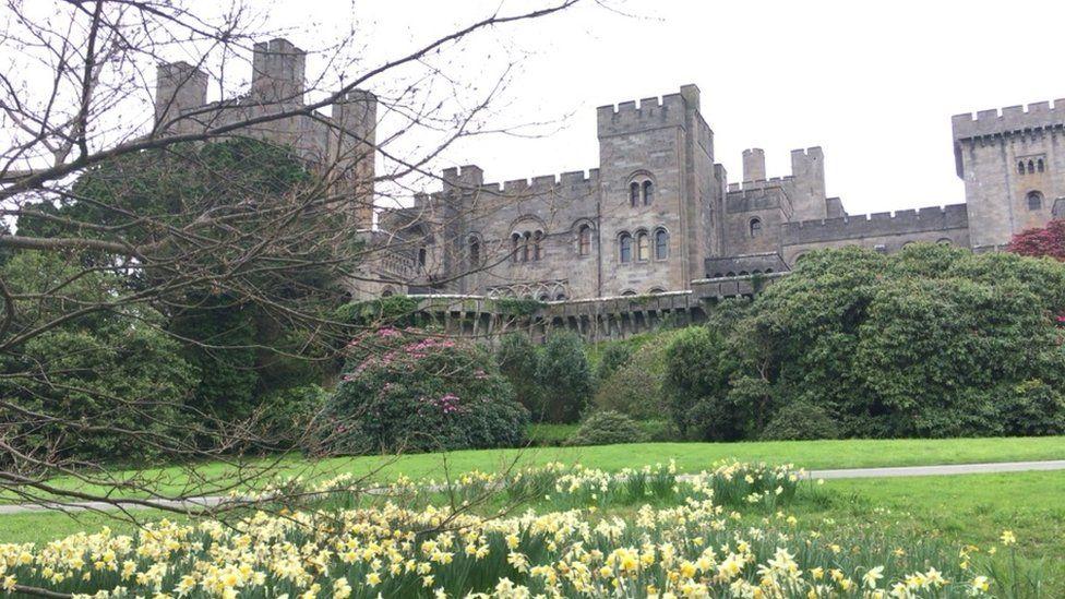 Penrhyn Castle in spring