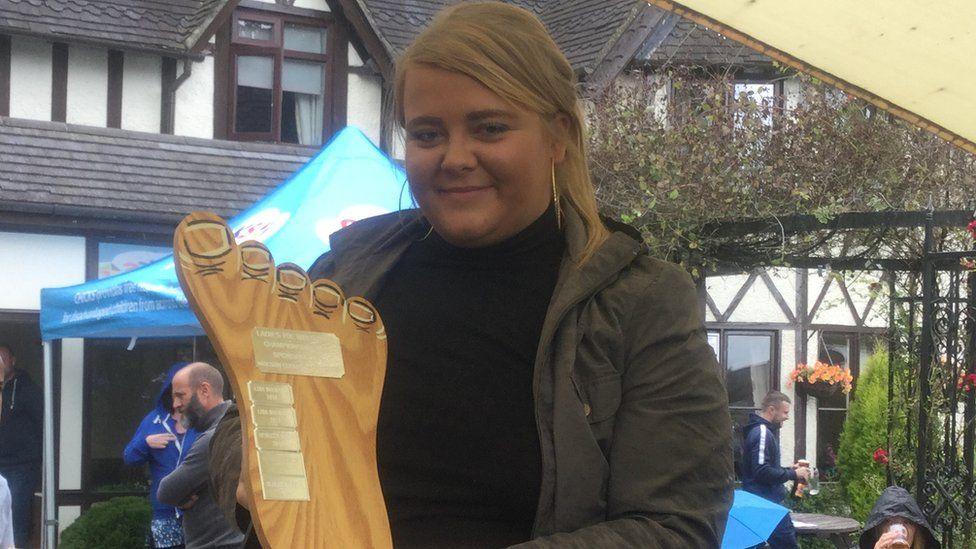 Women's champion Rebecca Beech