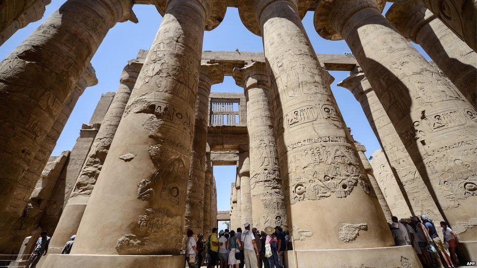 Karnak temple in Luxor, one of Egypt's most popular tourist sites.